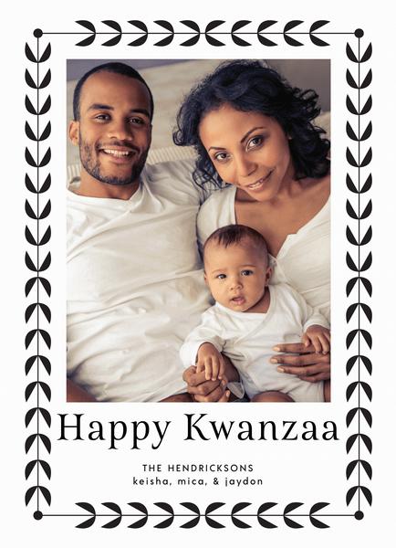 Simple Border Kwanzaa