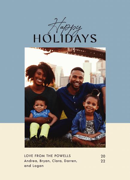 Blue Duotone Holidays