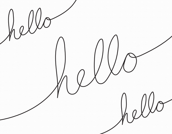 Simple Calligraphy Hello Card