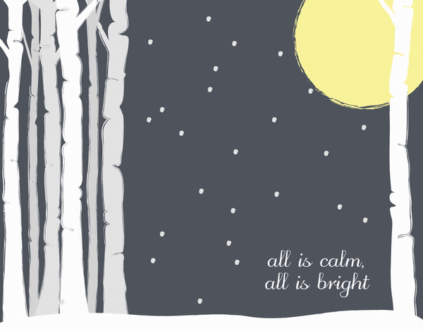 All Is Calm Christmas Card