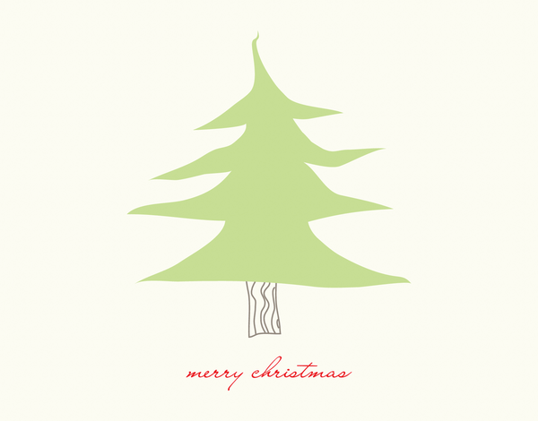 Little Christmas Tree Merry Christmas Card