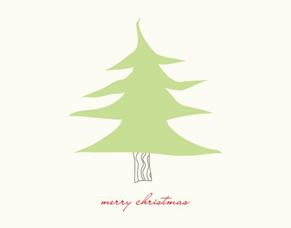 Little Christmas Tree Merry Christmas Card