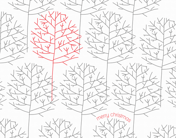 Winter Trees Merry Christmas Card