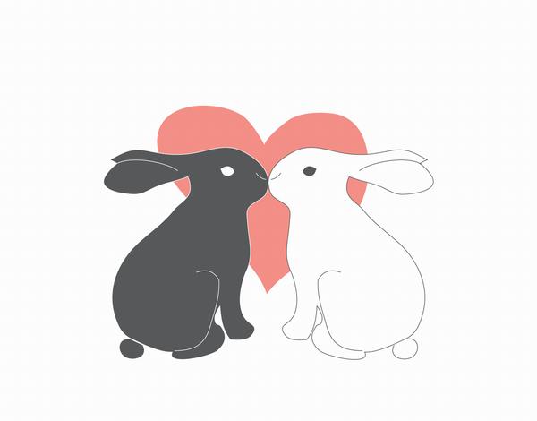 Adorable Love Bunnies Love Card