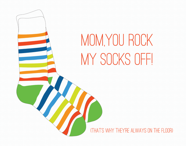 You Rock My Socks Off Love Card
