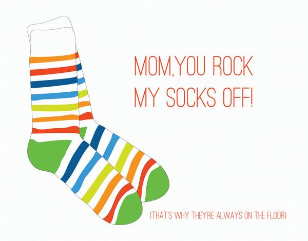 You Rock My Socks Off Love Card
