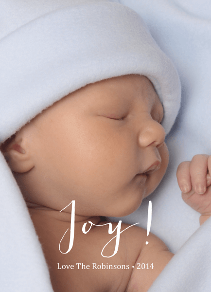 Joy Script Photo Holiday Card