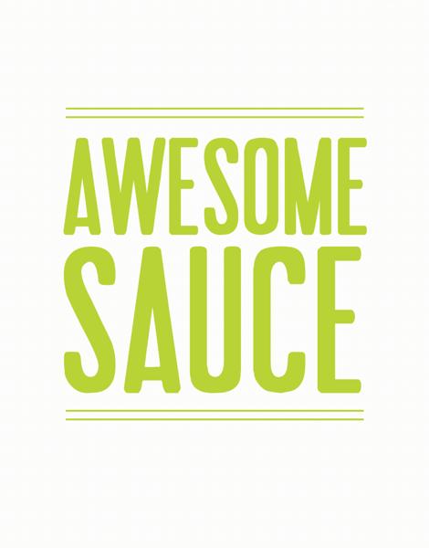 Bold Awesome Sauce Congrats Card