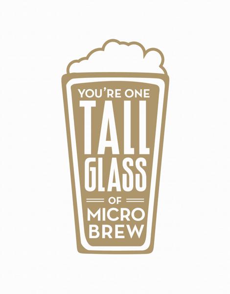 Illustrated Tall Glass of Microbrew Friend Card