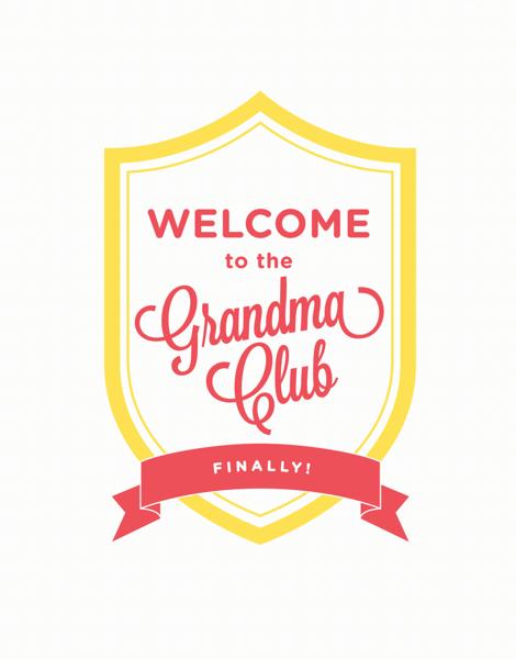 Script Welcome to the Grandma Club Card