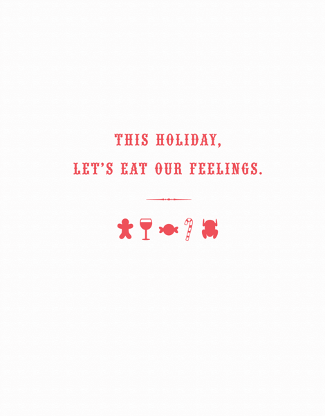 Simple Sarcastic Holiday Card