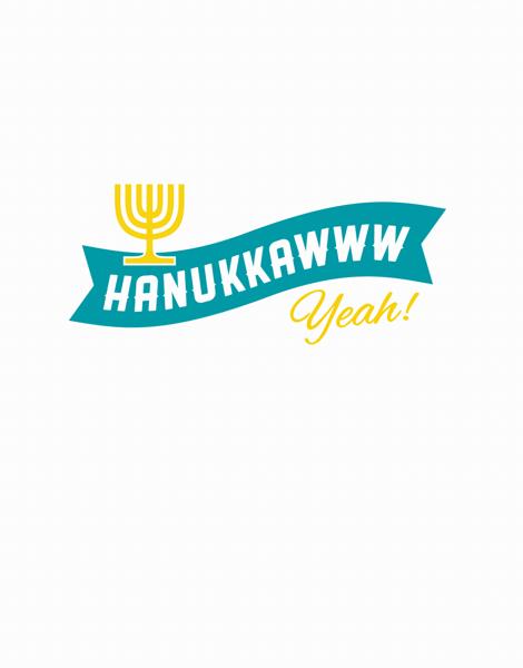 Banner Hanukkah Card