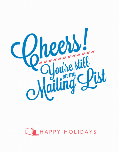 Funny Cursive Holiday Card