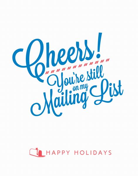Funny Cursive Holiday Card