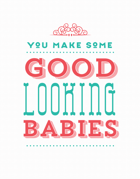 Funny Baby Congratulations Card