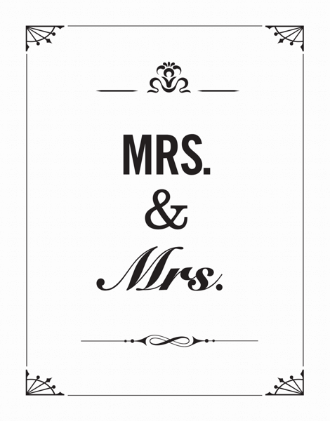 Classy Mrs. And Mrs. Wedding Thank You Card