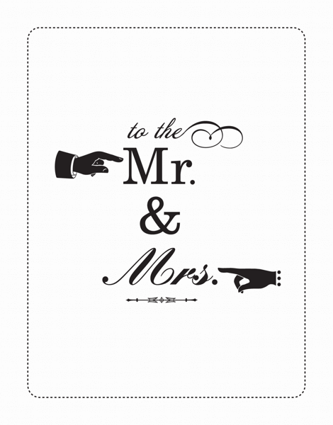 To the Mr. and Mrs. Wedding Congratulations Card