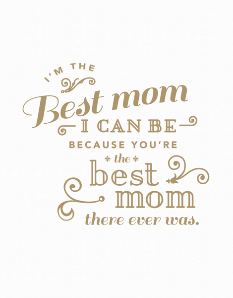 charming Mother's Day Card