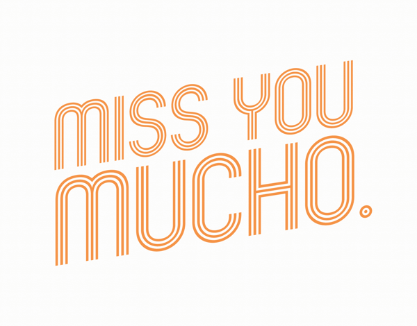 Exciting I Miss You Card