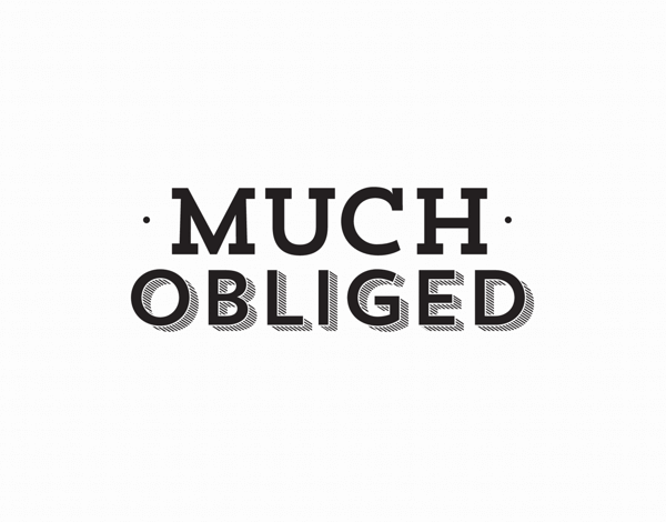 Much Obliged Simple Thank You Card