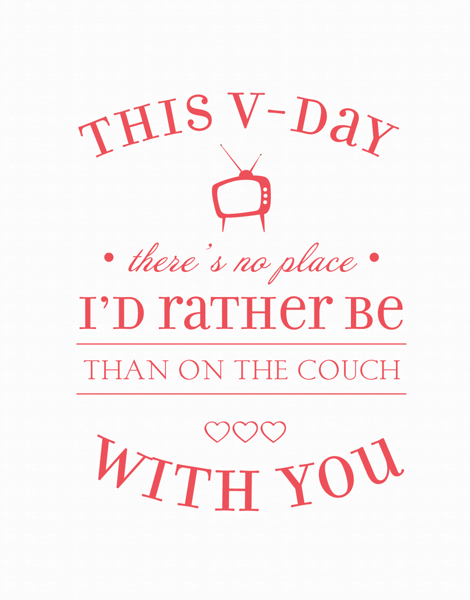 charming Couch Potato Valentine's Day Card