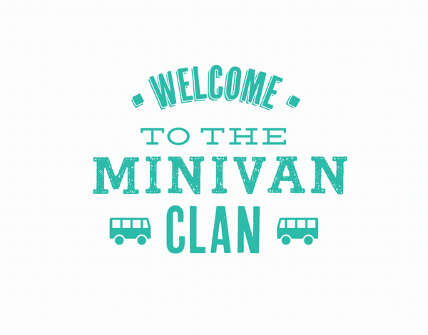 Welcome to the Minivan Clan Congrats Card