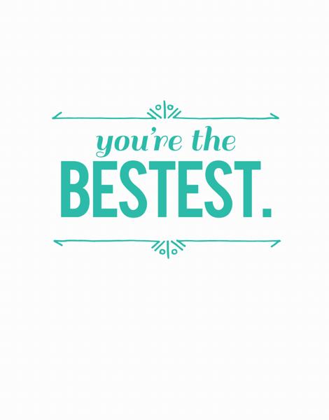 Arrow You're the Best Friend Card