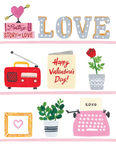 Valentine's Day Shelfie