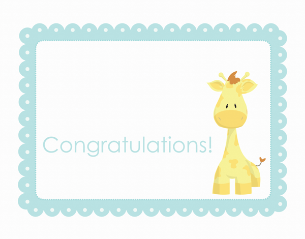 Playful Giraffe Congratulations Card