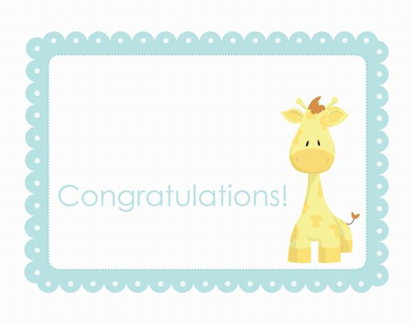 Playful Giraffe Congratulations Card