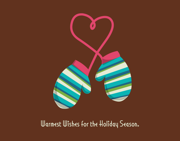 Sweet Holiday Mittens Holiday Card