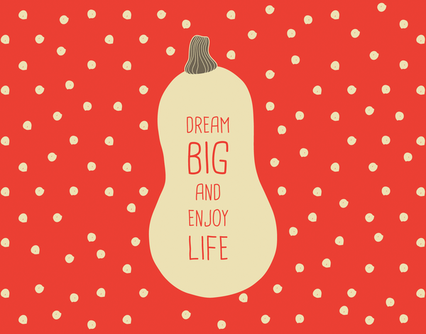 Red Polka Dots Dream Big Friend Card