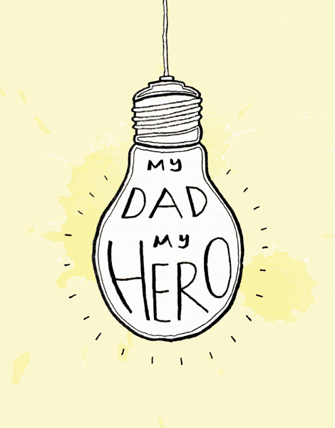 My Dad My Hero Father's Day Card