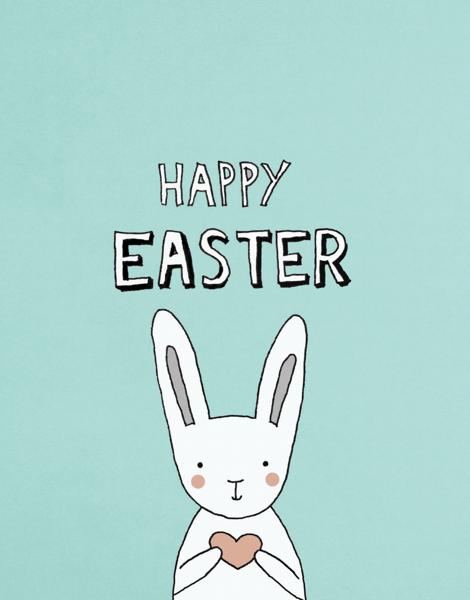 Easter Bunny Heart