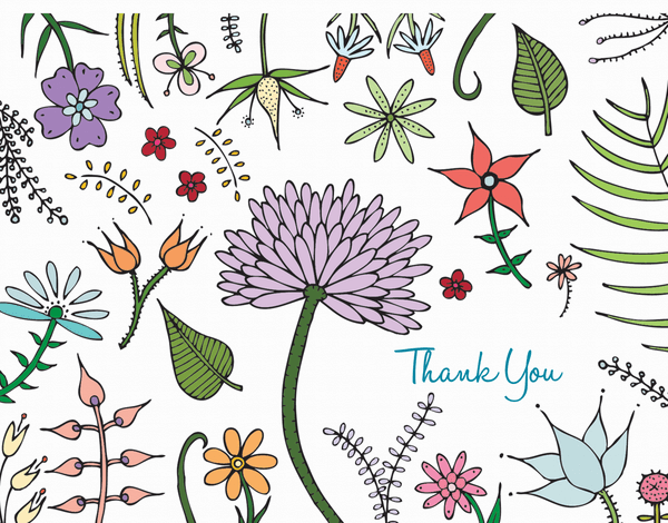 Pastel Flowers Thank You card