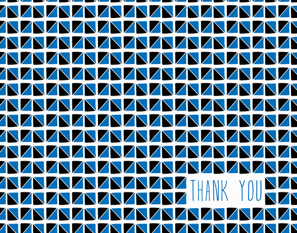Triangle pattern thank you card