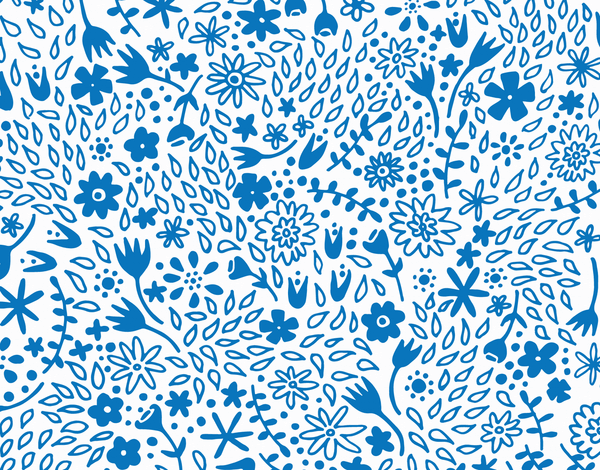 Hand Painted Blue Flowers stationery