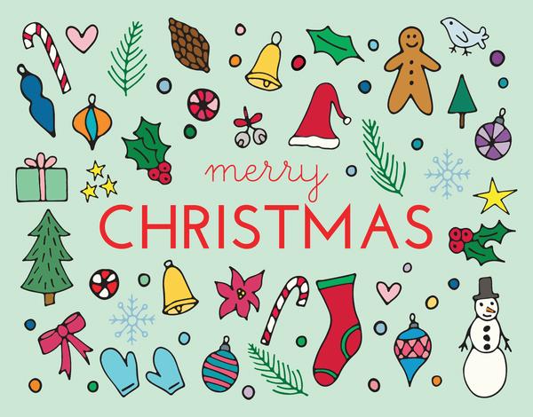 Christmas Icons holiday card