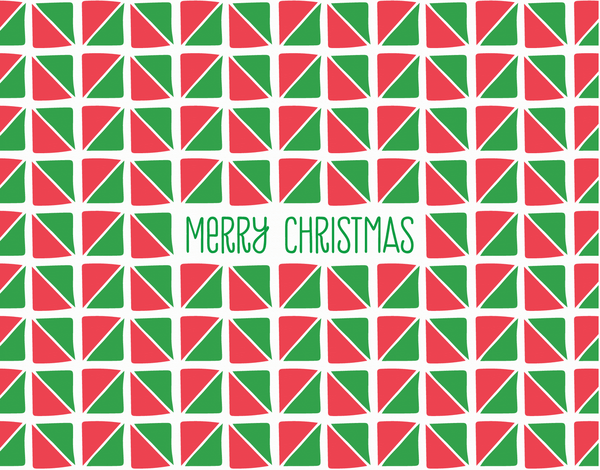 Triangle Patterned Merry Christmas Card