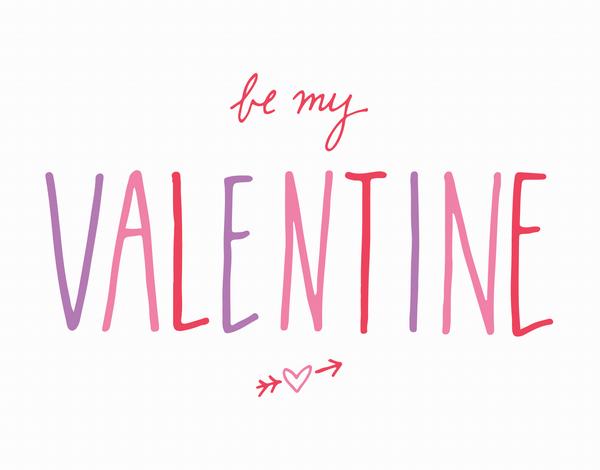 Simple Cursive Be My Valentine card
