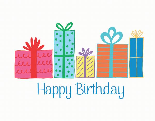 Birthday Presents Stylish Greeting Card