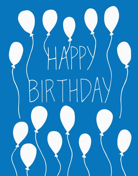 Playful balloons Birthday Card