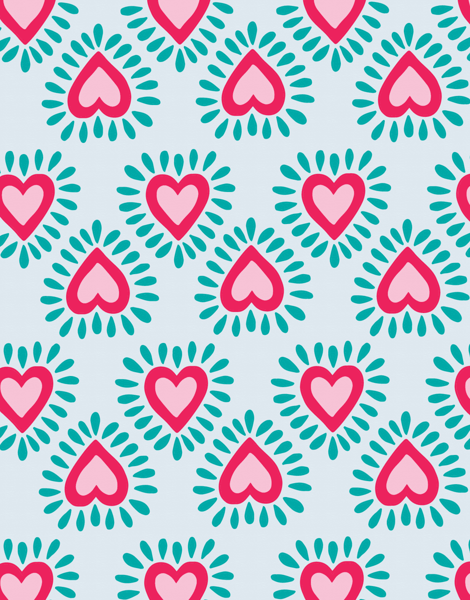 Heart patterned Everyday card