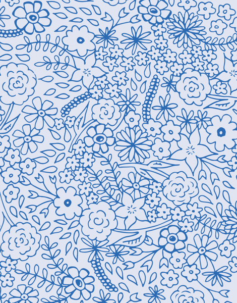 Blue Field of Flowers Stationery
