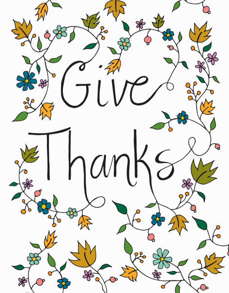 Fall Give Thanks greeting card