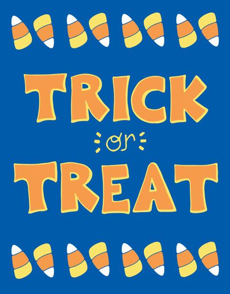 Playful Trick Or Treat Halloween card