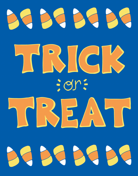 Playful Trick Or Treat Halloween card
