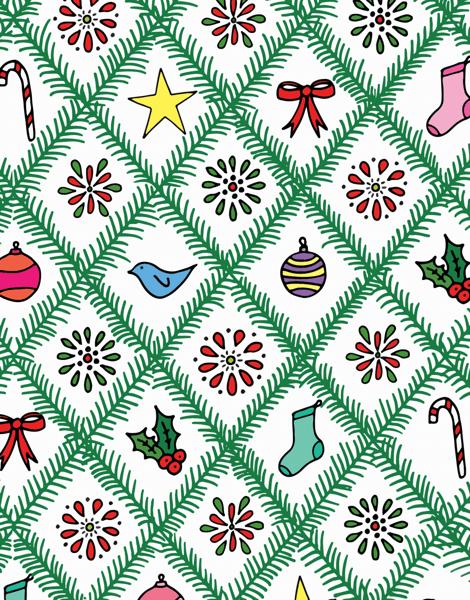 X Mas Argyle Christmas Card