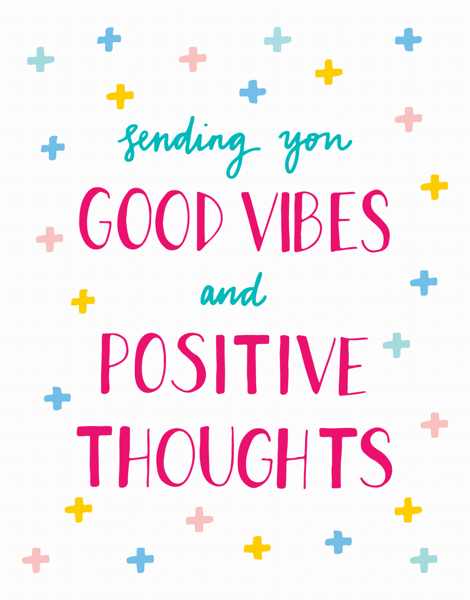 Handwritten Good Vibes Get Well Card