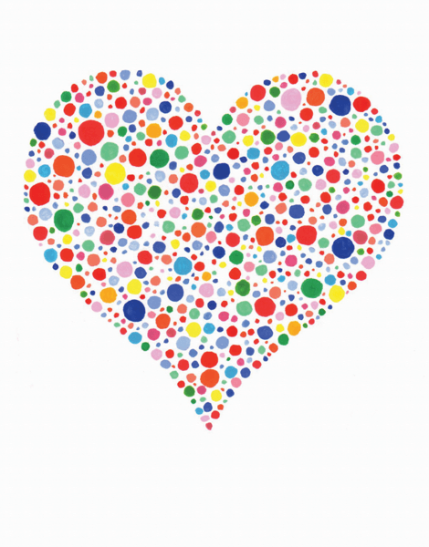 Rainbow Dot Heart
